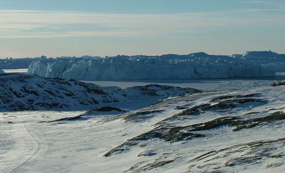 Isfjorden ved Ilulissat i Nordgrønland