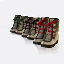 Sælskindsstølver fås med forskellige farver snørebånd