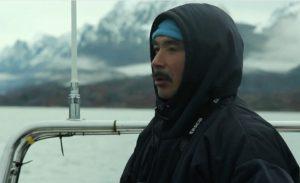Grønlandske David er fanger og fortæller om sit arbejde.