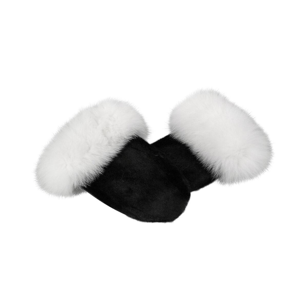 Sorte Luffer i grønlandsk sælskind og hvid polarræv