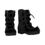 Støvler i sort sælskind