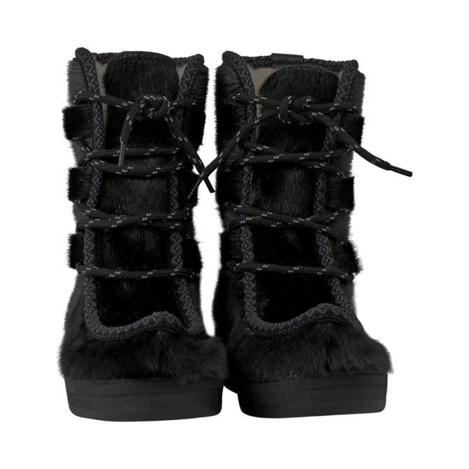 Støvler til herrer i sort sælskind Topaz