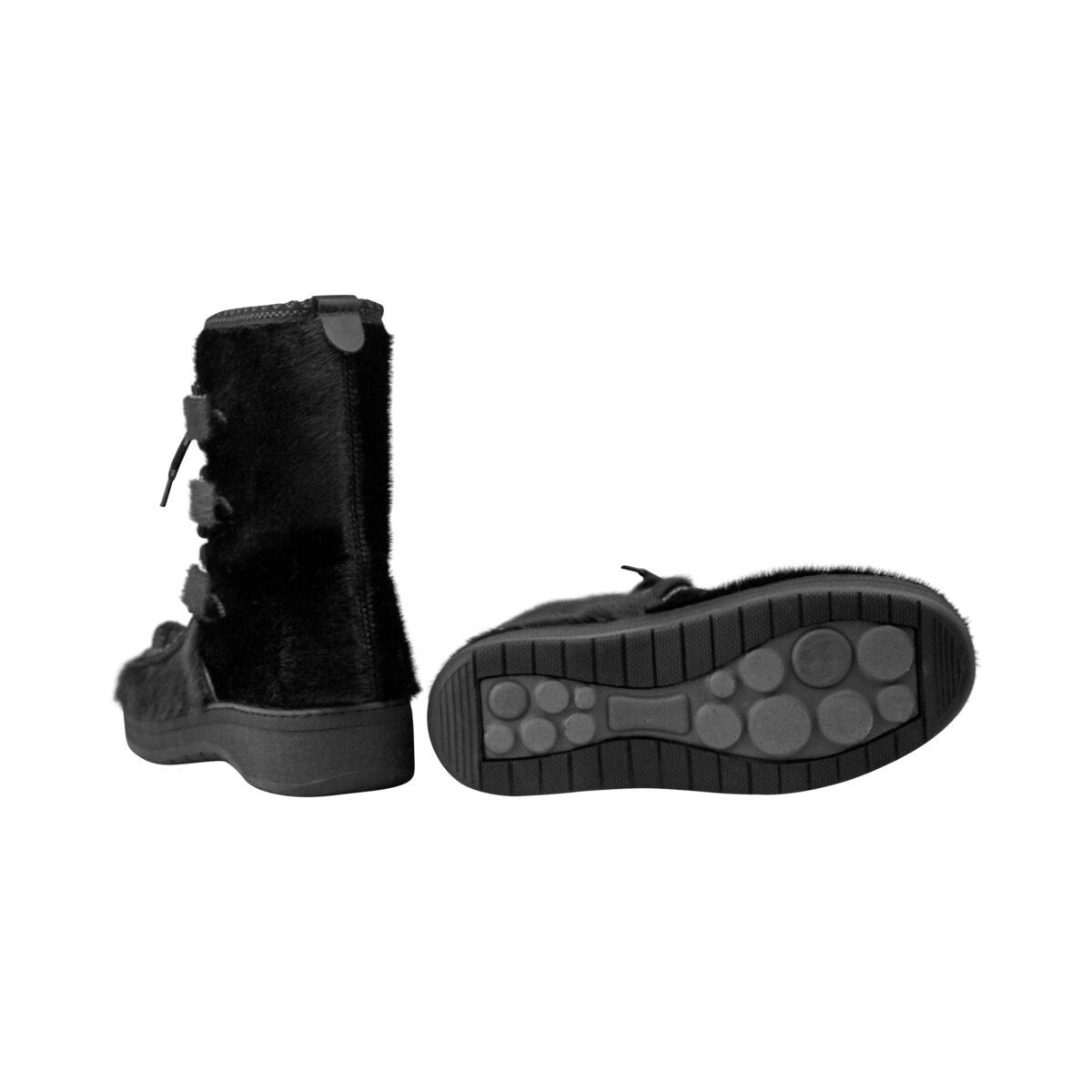 Støvler Topaz damer sort sælskind