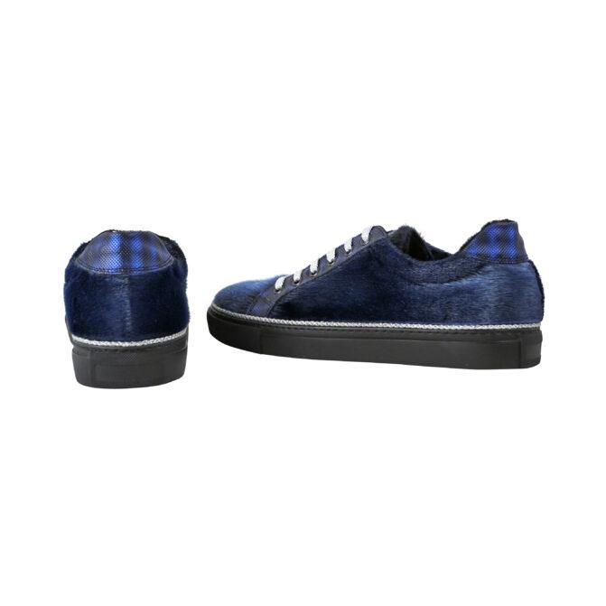 Vans / Sneakers i blåt sælskind