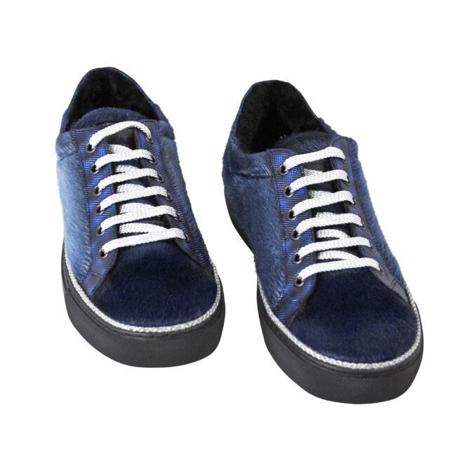 Vans Sneakers i blåt sælskind
