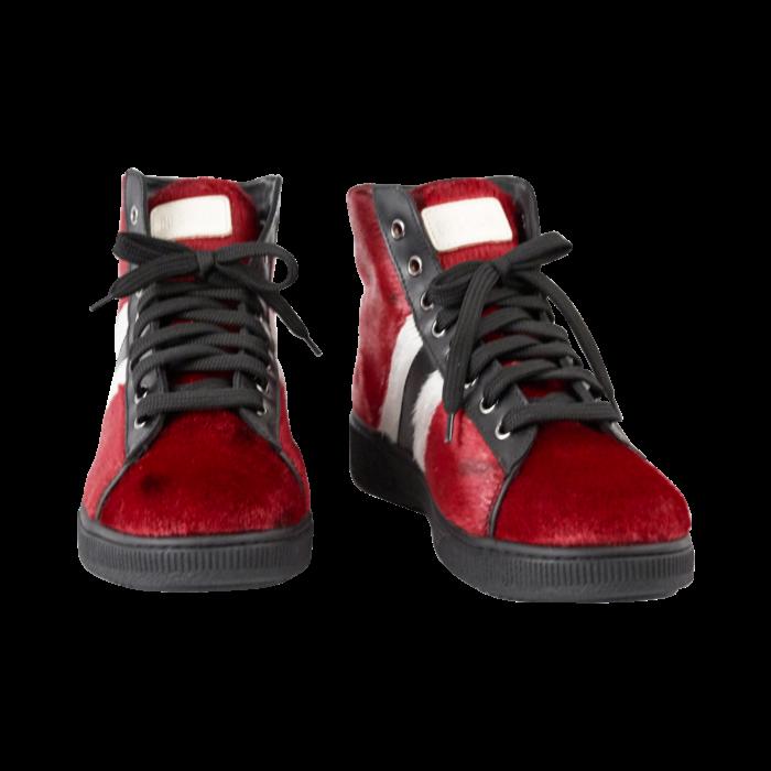 Støvler fra i rødt sælskind