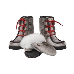 Støvler og Luffer i grønlandsk sælskind og polarræv