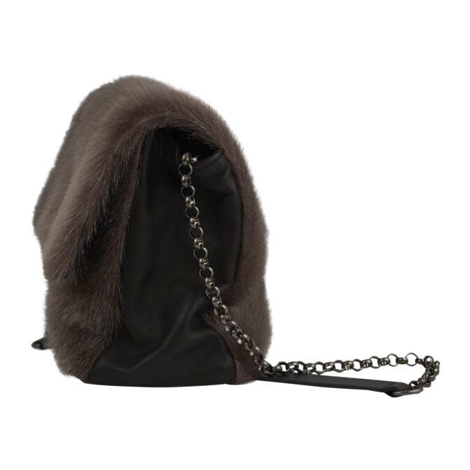 Taske i sælskind designet af Morten Ussing