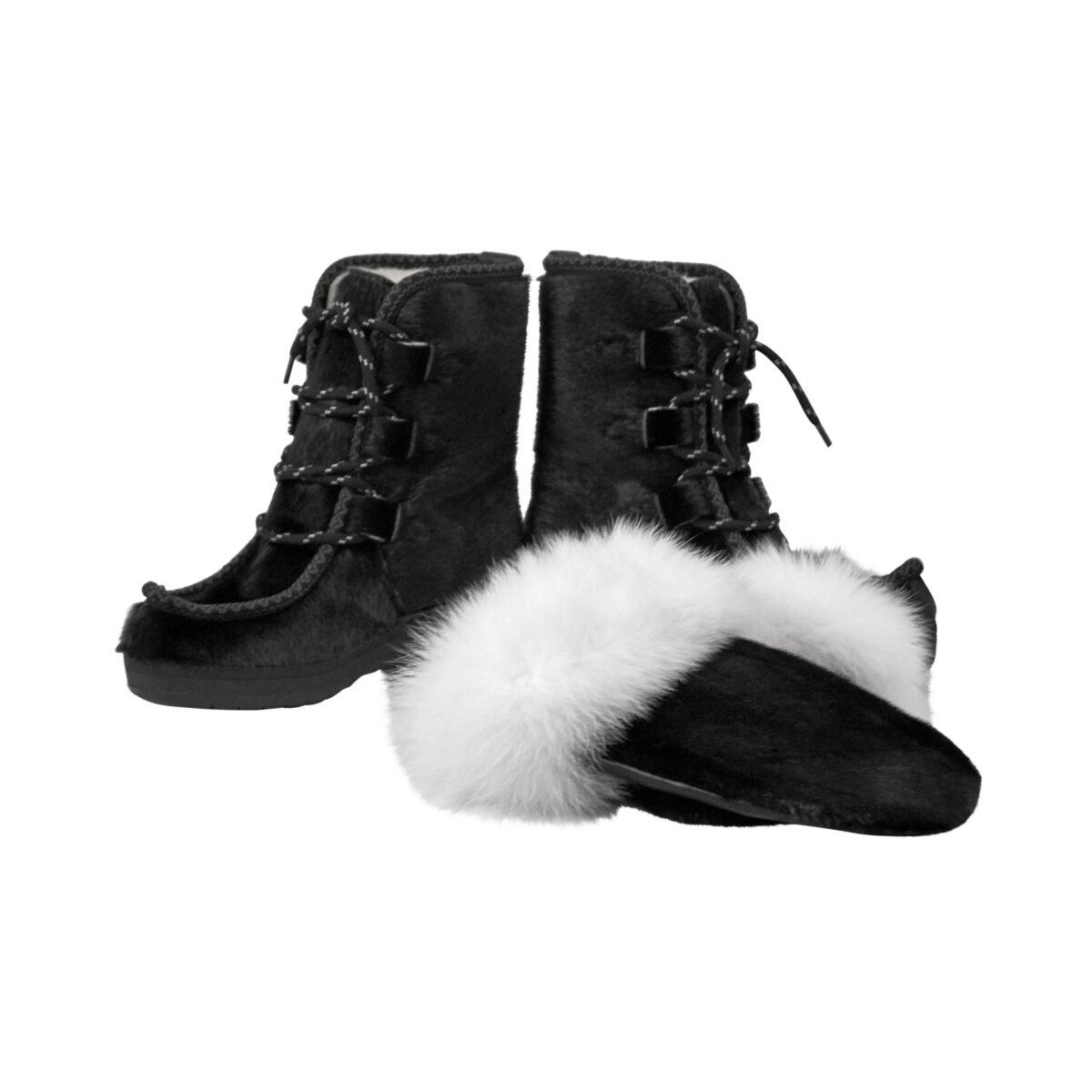 Støvler og luffer i grønlandsk sælskind