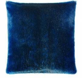 pudebetræk i blåt sælskind